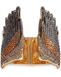 Noir Jewelry - Wing It 14-karat Gold-plated Crystal Cuff Gold - Lyst