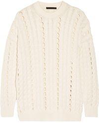 Alexander Wang | Open Cable-knit Cotton Jumper | Lyst