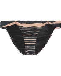 ViX - Lanai Bia Striped Bikini Briefs - Lyst