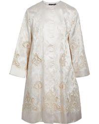 Dolce & Gabbana - Embroidered Silk-blend Satin-twill Coat - Lyst