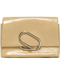3.1 Phillip Lim - Alix Patent Textured-leather Clutch - Lyst