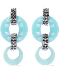 DANNIJO - Armie Silver-tone Crystal And Resin Earrings - Lyst