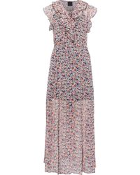 Anna Sui - Ruffled Floral-print Georgette Midi Dress - Lyst