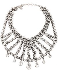 DANNIJO - Burnished Silver-tone Crystal Necklace Silver - Lyst