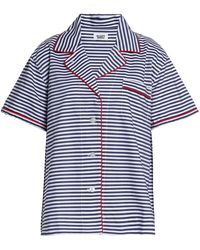 Outlet Geniue Stockist Sleepy Jones Woman Gathered Cotton Night Shirt Light Gray Size L Sleepy Jones Buy Cheap Excellent Sale Marketable btn34C