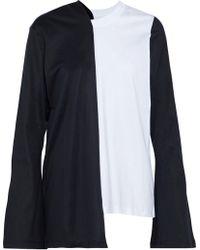 Marques'Almeida - Asymmetric Two-tone Cotton-jersey Top - Lyst