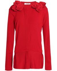 Valentino - Floral-appliquéd Wool Jumper - Lyst