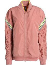 07e8349ab318 adidas By Stella McCartney - Woman Shell Jacket Antique Rose - Lyst