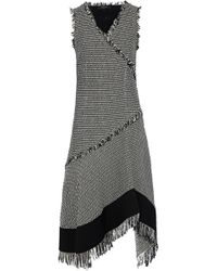 Derek Lam - Sleeveless Asymmetrical Dress W/ Fringe Detail - Lyst