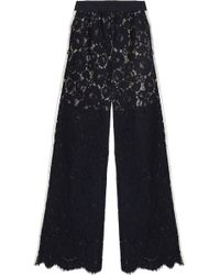 Goen.J - Corded Lace Wide-leg Trousers - Lyst