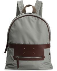 Maison Margiela - Leather-trimmed Shell Backpack - Lyst