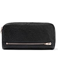 Alexander Wang - Woman Fumo Pebbled-leather Continental Wallet Black - Lyst