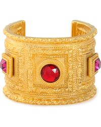 Ben-Amun - Gold-plated Stone Cuff - Lyst