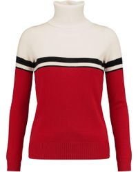 Madeleine Thompson - Vidos Intarsia Wool And Cashmere-blend Turtleneck Sweater - Lyst