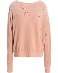LNA - Distressed French Cotton-terry Sweatshirt - Lyst