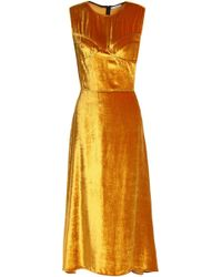 TOME - Metallic Chenille Midi Dress - Lyst