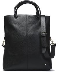 Halston - Pebbled-leather Tote - Lyst