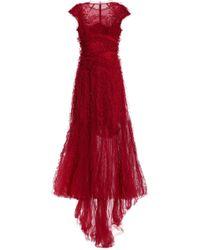 Jenny Packham - Embellished Ruffled Tulle Gown - Lyst