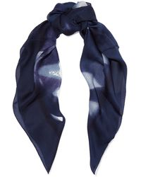 Halston - Printed Silk Scarf - Lyst