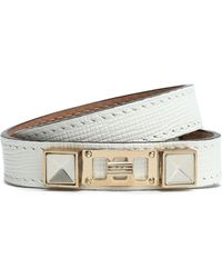 Proenza Schouler - Lizard-effect Leather, Silver And Gold-tone Bracelet - Lyst