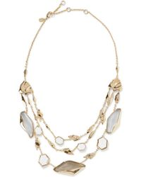 Alexis Bittar - Gold-tone Stone Necklace - Lyst