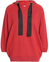 Brunello Cucinelli - Bead-embellished Cashmere Hooded Sweatshirt - Lyst