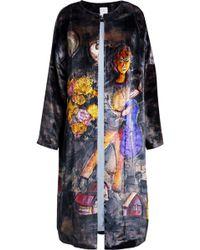 Stella Jean - Printed Velvet Coat - Lyst