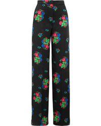Duro Olowu - Floral-print Silk-satin Wide-leg Trousers - Lyst