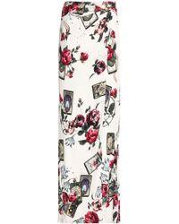 Roberto Cavalli - Wrap-effect Floral-print Stretch-jersey Maxi Skirt - Lyst