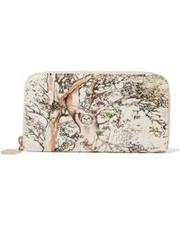 RED Valentino - Printed Canvas Continental Wallet - Lyst