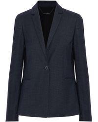 Elie Tahari - Darcy Wool-blend Twill Blazer Storm Blue - Lyst