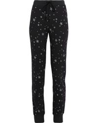 Joie - Tendra B Printed French Cotton-terry Track Pants - Lyst