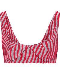 Marni - Panelled Striped Cotton-blend Jacquard Bra Top - Lyst