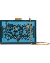 Valentino - Embellished Acrylic Box Clutch - Lyst