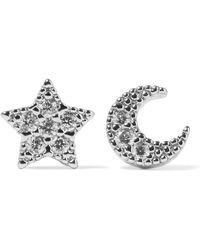 Noir Jewelry - Crystal Embellished Earrings - Lyst