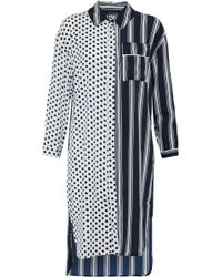 W118 by Walter Baker - Nancy Paneled Ruffle-trimmed Printed Crepe De Chine Shirt Dress - Lyst