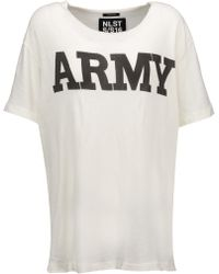 NLST - Army Cotton-blend T-shirt - Lyst