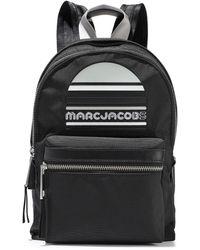 Marc Jacobs - Trek Embellished Leather-trimmed Shell Backpack Black - Lyst