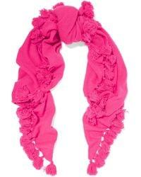 Autumn Cashmere - Tasseled Cashmere Scarf - Lyst
