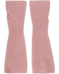 Madeleine Thompson - Nicola Ribbed Cashmere Fingerless Gloves - Lyst
