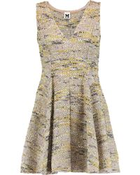 M Missoni | Pleated Metallic Bouclé-tweed Mini Dress | Lyst