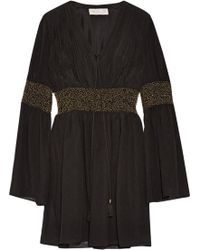 Rachel Zoe - Laurel Embellished Crinkled Silk-chiffon Mini Dress - Lyst
