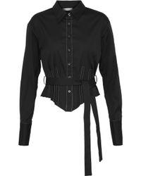 TOME - Belted Cotton-blend Poplin Shirt - Lyst