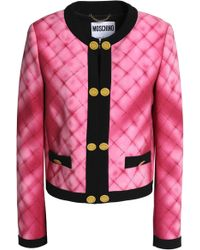 Moschino - Printed Crepe Jacket - Lyst
