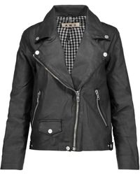 AMO - Rizzo Coated Stretch-cotton Biker Jacket - Lyst