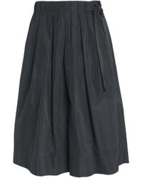 Brunello Cucinelli - Bead-embellished Pleated Taffeta Skirt Dark Gray - Lyst