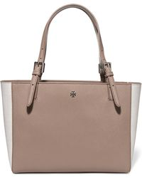 Tory Burch - York Textured-leather Tote - Lyst