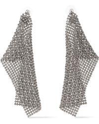 DANNIJO - Woman Silver-tone Crystal Earrings Silver - Lyst