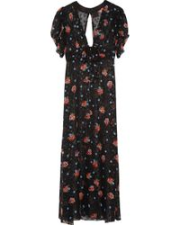 Anna Sui - Printed Fil Coupé Silk-blend Coverup - Lyst