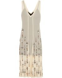 By Malene Birger - Gretas Sequined Chiffon Midi Dress - Lyst